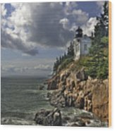Bass Harbor Lighthouse Wood Print