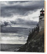 Bass Harbor Lighthouse In Acadia Np Wood Print