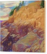 Bass Harbor Lighthouse,acadia Nat. Park Maine. Wood Print