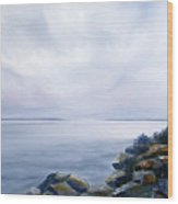 Bass Harbor Maine Wood Print