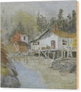 Bass Harbor Retreat Wood Print