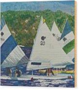 Bass Lake Races  Wood Print