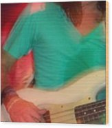 Bass Man Wood Print