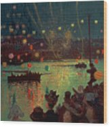 Bastille Day At Lorient Wood Print
