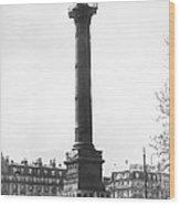 Bastille Monument In Paris Wood Print