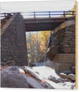 Bastion Falls Bridge 2 Wood Print