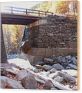 Bastion Falls Bridge 4 Wood Print