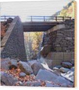 Bastion Falls Bridge 5 Wood Print