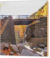 Bastion Falls Bridge 6 Wood Print