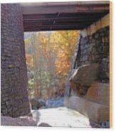 Bastion Falls Bridge 7 Wood Print