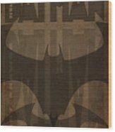 Bat Brown  Wood Print