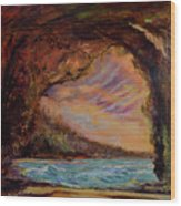 Bat Cave St. Philip Barbados  Wood Print