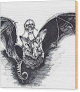 Bat Mobile Wood Print