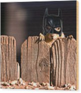 Bat Squirrel  The Cape Crusader Known For Putting Away Nuts.  Wood Print