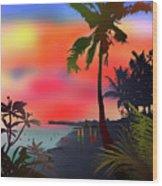 Echo Beach, Bali Wood Print