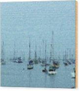 Bateaux Au Repos Wood Print