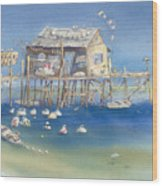 Bates Bait And Buoys Wood Print