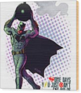 Batfleck And The Bomb 2 Wood Print