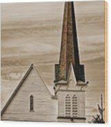 Bath Congregational Church Wood Print