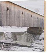 Bath Covered Bridge Wood Print