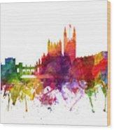 Bath England Cityscape 06 Wood Print