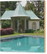 Chanticleer Bath House A Wood Print