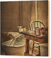 Bath Night At Fort Verde Wood Print