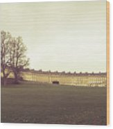 Bath Royal Crescent Wood Print