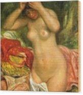 Bather Arranging Her Hair 1893 Wood Print