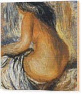 Bather From The Back Wood Print