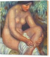 Bather Wiping A Wound 1909 Wood Print