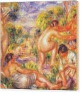 Bathers 1916 Wood Print