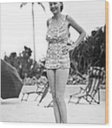 Bathing Suit Made Of Currency Wood Print