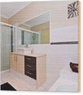 Bathroom And Bath Wood Print