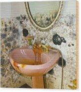 Bathroom Mold Wood Print