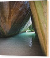 Baths At Virgin Gorda Wood Print