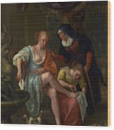 Bathsheba After The Bath Wood Print