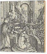 Bathsheba At Her Bath Wood Print