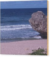 Bathsheba Beach Barbados Wood Print