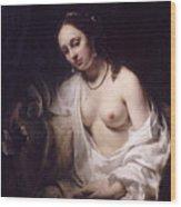 Bathsheba With David's Letter Wood Print