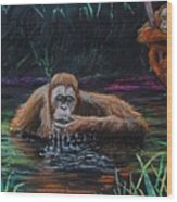 Bathtime Wood Print