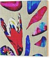 Batik Bouquet Wood Print