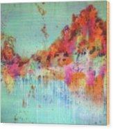 Batik Fall Silk Scarf Wood Print
