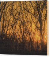 Batik Sunset Wood Print