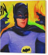 Batman, Adam West Wood Print