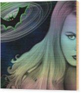 Batman And Nicole #0070 Wood Print