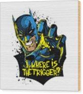 Batman Art Wood Print