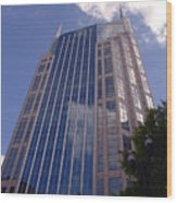 Batman Building In Down Town Nashville Wood Print