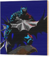Batman Dark  Wood Print