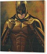 Batman The Dark Knight  Wood Print by Paul Meijering